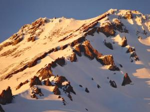 Sommet de Shasta au Coucher du SOLEIL - Février 2015 Photo Sandra Walter