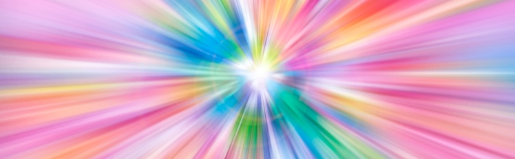 Colorful rays of light explosion